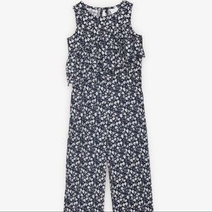 Kids Floral jumpsuit with ruffle